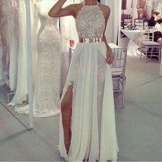 Pd266 Halter Prom Dress,Lace Prom Dress,A-Line Prom Dress,Long Prom Dress,Elegant Prom Dress