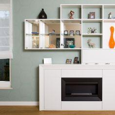 Nappali beépítés Bookcase, Shelves, Mirror, Home Decor, Shelving, Decoration Home, Room Decor, Mirrors, Book Shelves