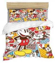 MICKEY MOUSE FULL SIZE DUVET COVER WITH TWO PILLOW CASES 3 PC SET Minnie Mouse Bedding, Disney Bedding, Mickey Minnie Mouse, Full Size Duvet Cover, Throw Pillow Cases, Throw Pillows, Kids Bedding Sets, Soo Jin, Kids Blankets