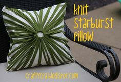 Knit Starburst pillow - so pretty and different from anything I have.