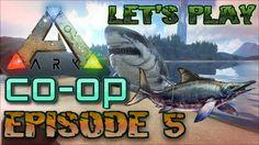 Ichthyosaurus vs megalodon?!  - Let's play Ark Survival Xbox one Episode 5