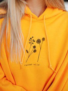 Raised wild hoodie - Cool Shirts - Ideas of Cool Shirts - Pajamas For Teens, Cute Pajamas, Yellow Clothes, Yellow Outfits, Trendy Hoodies, Yellow Hoodie, Yellow Shirts, Womens Pyjama Sets, Mellow Yellow