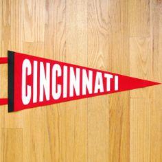 Cincinnati Pennant by Steam Whistle Letterpress, Cincinnati