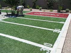 I would LOVE to have a mini football field in my backyard!