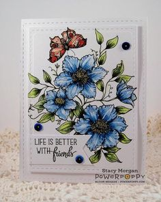 Climbing Clematis Digital Stamp Set | Power Poppy by Marcella Hawley