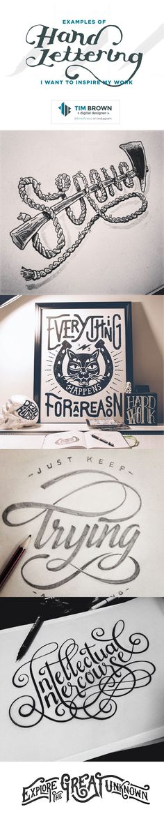 Examples of Hand-lettering I want to inspire my work - Tim Brown - Digital Designer. More examples and description at https://timbdesign.com/10-examples-hand-lettering-want-inspire-work/