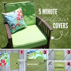 Homemade Outdoor Patio Pillow Covers Project Homesteading  - The Homestead Survival .Com