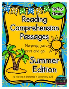 Reading+Comprehension+Passages-+Summer+Edition+from+Enchanted+in+Elementary+on+TeachersNotebook.com+-++(17+pages)++-+Enchanted+in+Elementary:+Reading+Comprehension+Passages-+Summer+Edition