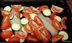 Fisch mit Tomate und Zucchini