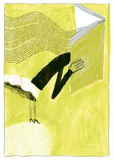 Mejor, con los libros en la cabeza. ilustración en la concepción de Klaas Verplancke.