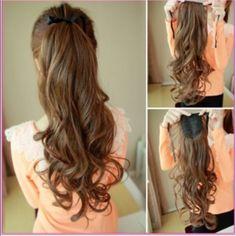 Long Binding Ponytail Hair Extension