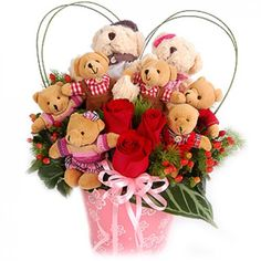 Teddy Bears on Parade Bouquet to Malaysia