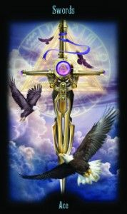 Ace of Swords - Legacy of the Divine Tarot