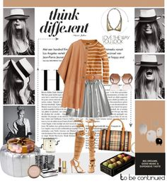 """""""smiling stripes"""" by loliette ❤ liked on Polyvore"""