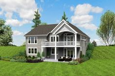 Plan Cute Craftsman House Plan with Walkout Basement - Basement Bedrooms Brick House Plans, Open Floor House Plans, Porch House Plans, 4 Bedroom House Plans, Lake House Plans, Basement House Plans, Luxury House Plans, Country House Plans, Modern House Plans