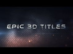 After Effects Tutorial - Epic 3D Titles (No Plug-ins) - YouTube