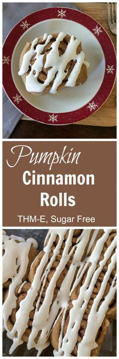 Pumpkin Cinnamon Rolls {THM-E; Sugar Free} - My Montana Kitchen