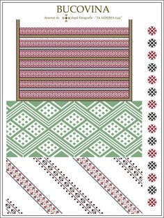 Semne Cusute Embroidery Motifs, Learn Embroidery, Craft Patterns, Knitting Patterns, Beading Patterns, Cross Stitch Patterns, Needlework, Weaving, Tapestry