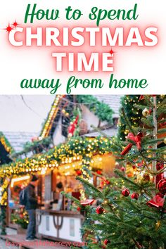 Christmas away from home gives your family a new way to make memories! You never remember what you get for Christmas but you will remember where you were! Enjoy Christmas away from home with these easy to follow tips. Christmas Travel, Christmas Time, Christmas Away From Home, Christmas Destinations, Christmas Activities, Memories, Vacation, Holiday Decor, Tips