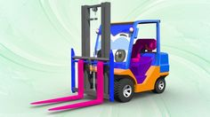 forklift | formation and uses | 3D cartoon cars for children | videos for kids