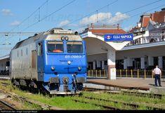 CFR Calatori - Romanian Railways DE-class 65 at Cluj Napoca, Romania by Beppe Train Engines, Train Tracks, Locomotive, Romania, Diesel, Spain, Trains, Europe, Paths
