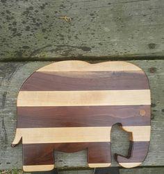 Elephant Cutting Board/ Maple Cutting Board/ Animal Cutting