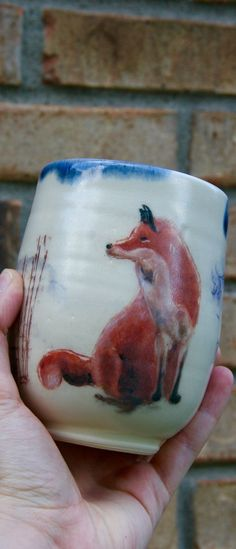 By Lone Fox Pottery #pottery #Foxes #cute #outdoors #wildlife #ceramics #red #unique #animal #gift