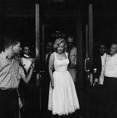 Marilyn Monroe August 10, 1957... a rare picture