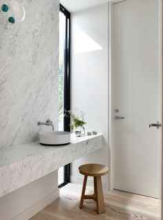 Bathroom of Fairbairn House in Melbourne by Inglis Architects