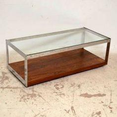 Rosewood & Chrome Retro Coffee Table - Merrow Associates - Vintage 1960's  - Tammy's wish list!