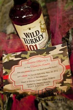 Camouflage On the Hunt for Trouble Invite by Ink + Paper, BrideMeetsWedding on Etsy, $1.50