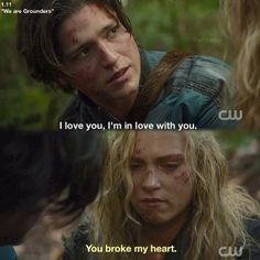 "S1 Ep12 ""We Are Grounders, Part 1"" - Finn and Clarke :..( nononono. Come on Clarke give him a second chance..."