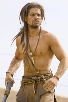 10,000 BC (2008). Steven Strait as mammoth hunter D'leh, which is 'held', the German for hero, backwards - a deliberate wink to the audience by director Roland Emmerich.