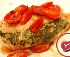 Pechuga de pollo rellena con espinacas y… ¡al horno!