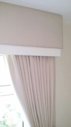 Layered pelmet with curtains made by us at rachel robinson interiors Curtain Pelmet, Window Cornices, Valances, Window Coverings, Window Treatments, Lounge Curtains, Living Room Decor Curtains, Curtains With Blinds, Pelmet Designs