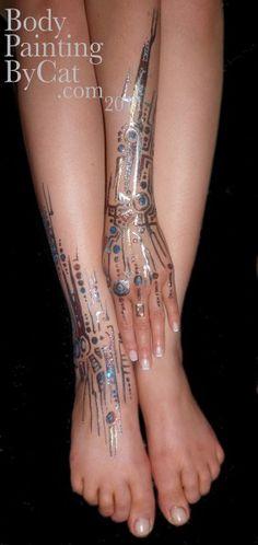 Cyborg glitter tatt arm feet 2 ed bpc
