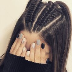 44 Ideas de Peinados Juveniles que te Encantarán Latest Hairstyles, Pretty Hairstyles, Braided Hairstyles, Braided Locs, Updo Hairstyle, Hair Ponytail, Headband Hairstyles, Medium Hair Styles, Long Hairstyles