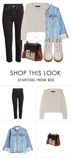"""""""Sin título #3797"""" by camilae97 ❤ liked on Polyvore featuring The Elder Statesman, Frame, Gucci, Topshop and NIKE"""