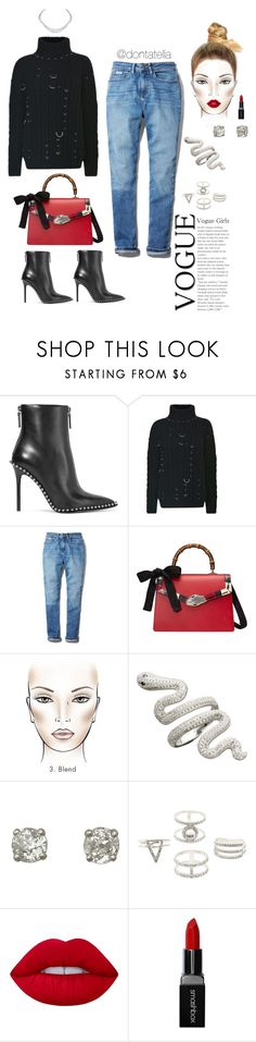 """Basic saturdays ❤️"" by dontatella ❤ liked on Polyvore featuring Alexander Wang, Thierry Mugler, Calvin Klein, Gucci, Charlotte Russe, Harry Winston, Lime Crime, Smashbox, AlexanderWang and gucci"