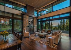 home design ideas living room Modern Mountain Home, Mountain Living, House Goals, Modern House Design, Great Rooms, Home Interior Design, My Dream Home, Future House, Luxury Homes