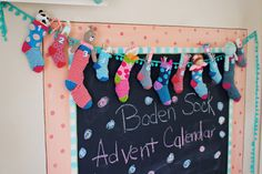 Boden Sock Advent Calendar DIY