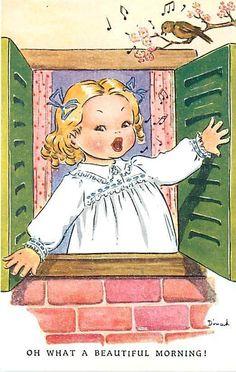 DINAH ~ vintage postcard, via  eBay