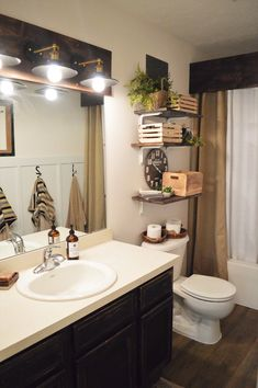 Farmhouse Style Bathroom Makeover on a Budget — The Other Side of Neutral
