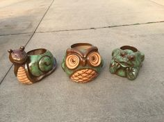 These fun critter planters came in today!! How fun!! #planter #garden #PenfieldNY
