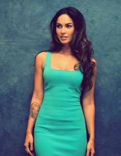 Megan Fox. Really love this dress. Her hair is gorgeous too.