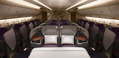 SINGAPORE AIRLINES REVEAL DOUBLE BED IN #BusinessClass  #SingaporeAirlines passengers can fly #solo or share a double bed with a fellow passenger in the new look seats.