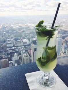 Best view in Chicago #mojito #95th #signaturerrom #chicago #bestview #hancocktower