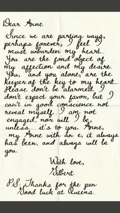 Gilbert Blythe, Anne Shirley, Movie Quotes, Book Quotes, Gilbert And Anne, Anne White, Anne With An E, Kindred Spirits, Love Book