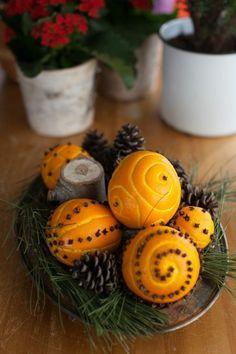 orangenschalen deko Weihnachtsschmuck selber basteln                                                                                                                                                                                 Mehr