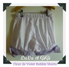 Fleur de Violet Bubble Shorts Vintage Styled shorts by LuLuetGiGi, $35.00